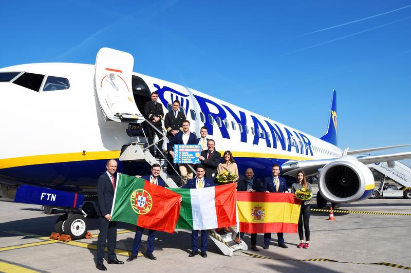 RYANAIR'S FIVE NEW NUREMBERG SUMMER ROUTES TAKE OFF