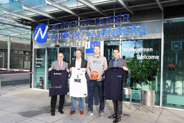 Nürnberg Falcons und Albrecht Dürer Airport Nürnberg beschließen Partnerschaft