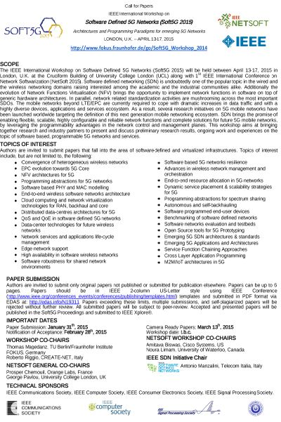 NGNI, Soft5G, Download, Event, Call for Papers