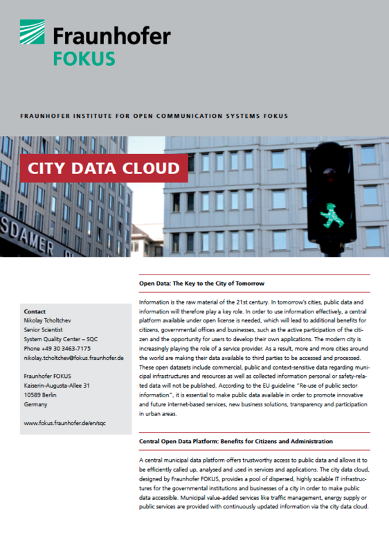 Screenshot Project information City Data Cloud