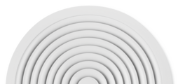 Für radiale horizontale Luftführung, mit feststehenden Lamellen – Frontdurchlass aus Aluminium