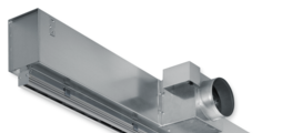 Für große variable Volumenstrombereiche, stabile Luftführung auch bei kleinen Volumenströmen