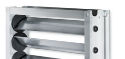 Multileaf dampers made of aluminium for shutting off the airflow in air conditioning systems